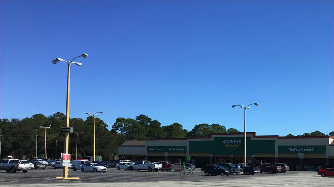 Shopping Center Space for Lease – Albany GA – Anchored by Harvey's