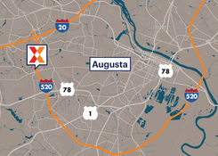 Commercial Retail Space For Lease - Augusta West Plaza Augusta Georgia